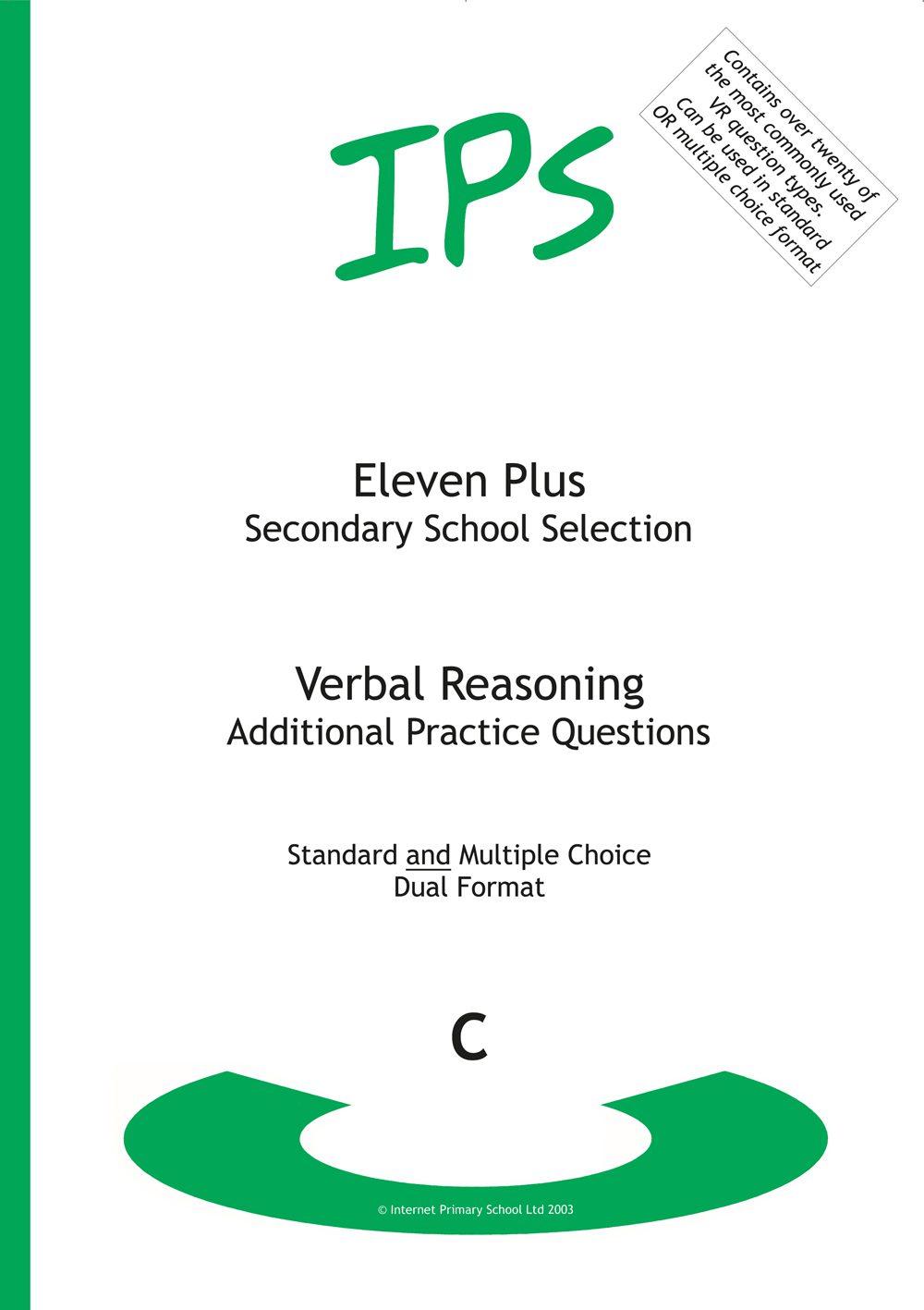 11 Plus Verbal Reasoning - Book C - Extra Practice Questions