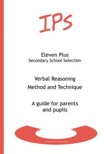 11 Plus Verbal Reasoning - Method and Technique - parents/pupils guide