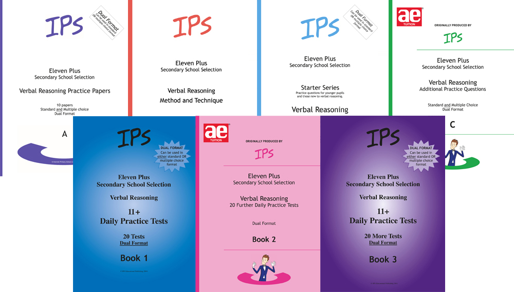 All 11 Plus Verbal Reasoning books and papers