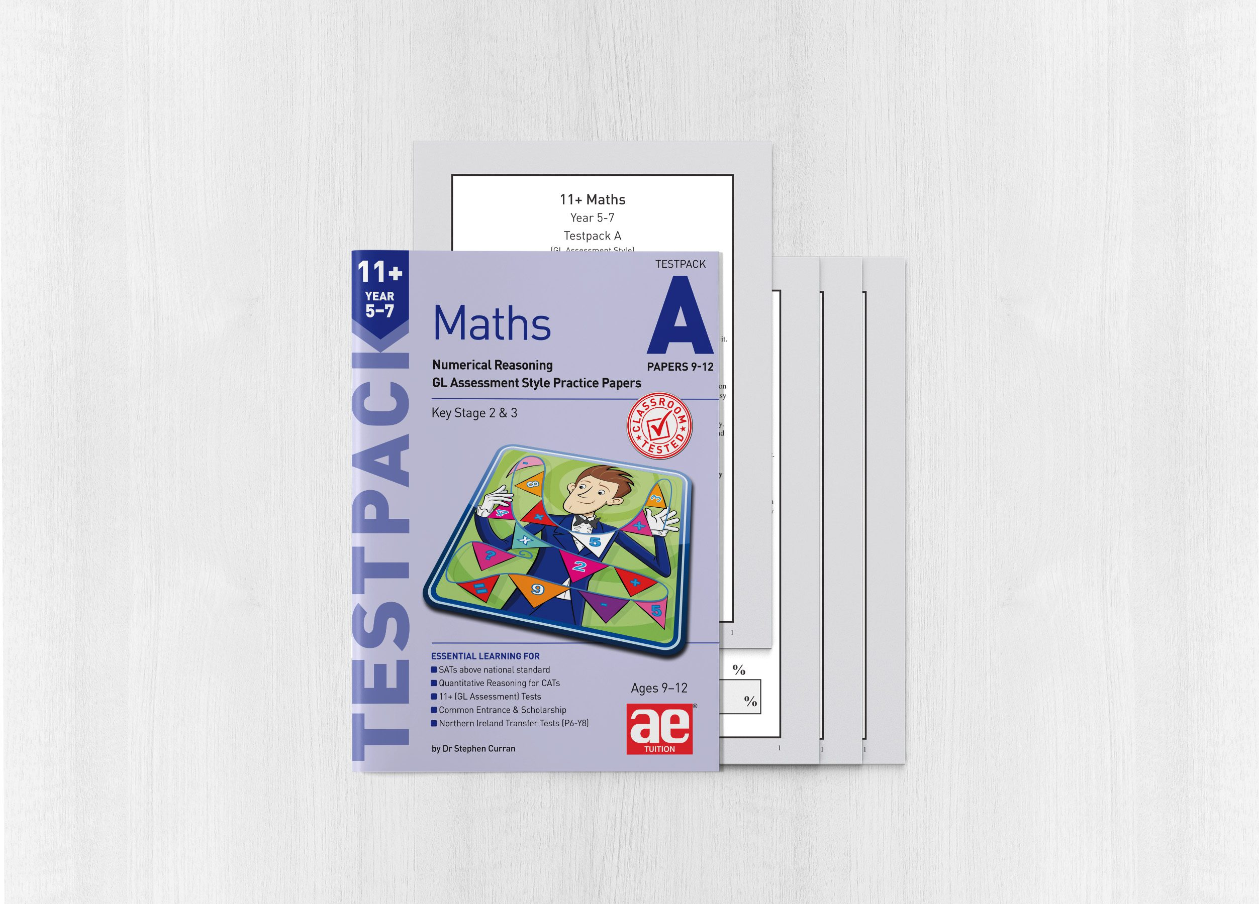 11+ Maths Year 5-7 Testpack A Papers 9-12 - AE Publications