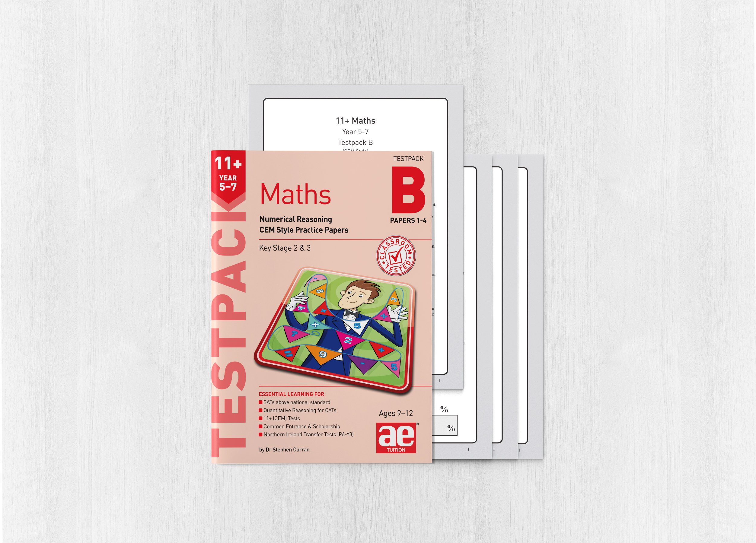11+ Maths Year 5-7 Testpack B Papers 1-4 - AE Publications