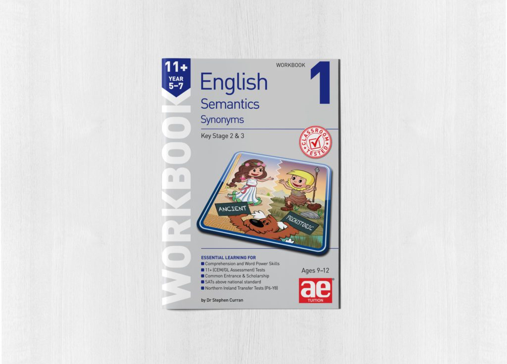 Semantics Year 5-7 Workbook 1 - Synonyms - AE Publications