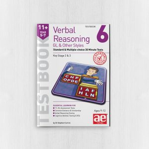 11+ Verbal Reasoning Year 5-7 GL & Other Styles Testbook 6 Sample Page Cover